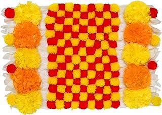 Aditri Creation Pom Pom Ractangle Mat