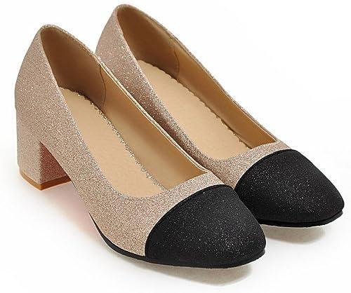 CXQ-Talons QIN&X Bloc de de Femmes Peu Profondes Bouche Talons Hauts Chaussures de Mariage Prom Pompes Cour  à vendre