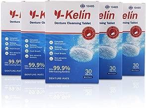 Pastillas limpiadoras para dentaduras Y-Kelin (180 tabletas)