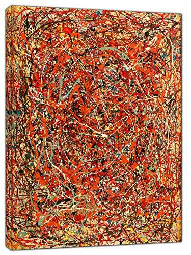 Jackson Pollock The Fury, Ölfarbe, gerahmter Kunstdruck auf Leinwand, 34'' x 24''inch(86x 60 cm) -38mm depth