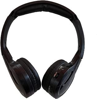 TOPXCEGUU A10 IR Wireless Headphones for DVD Player Headrest Video,On-Ear Car Infrared Headphones Headset Universal (Black)