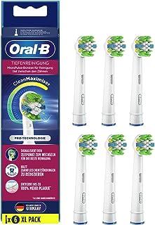 Oral-B Głębokie czyszczenie nasadzane szczoteczki z włosiem CleanMaximiser do głębokiego czyszczenia zębów, 6 sztuk