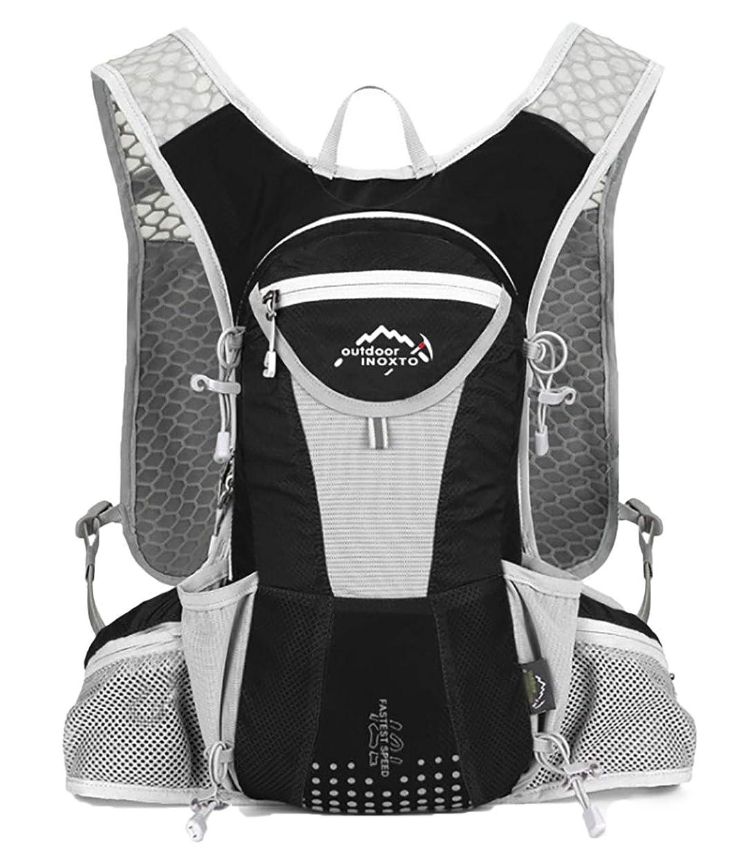 美的参加者韓国語[キャプテン?ケイ] ハイドレーション 対応 サイクリング ランニング バックパック 軽量 リュック ヘルメットホルダー付き