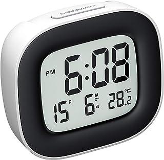 Mpow Reloj Despertador Digital con Luz de Noche, Reloj de Viaje con Pilas, Zumbador Alarma, Fecha, Temperatura, Función Snooze, 12/24 Horas, Fácil de Llevar, para Dormitorio Oficina Viaje