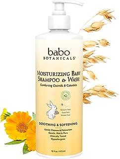 Babo Botanicals Moisturizing Baby Shampoo and Wash Oatmilk Calendula, 16 Ounce