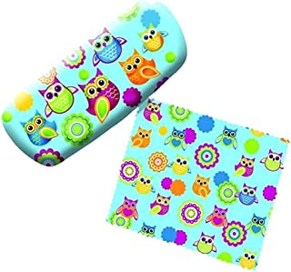 SPO Hoot Owl Eyeglass Reading Glasses Hard Case w/Matching Lens Cloth