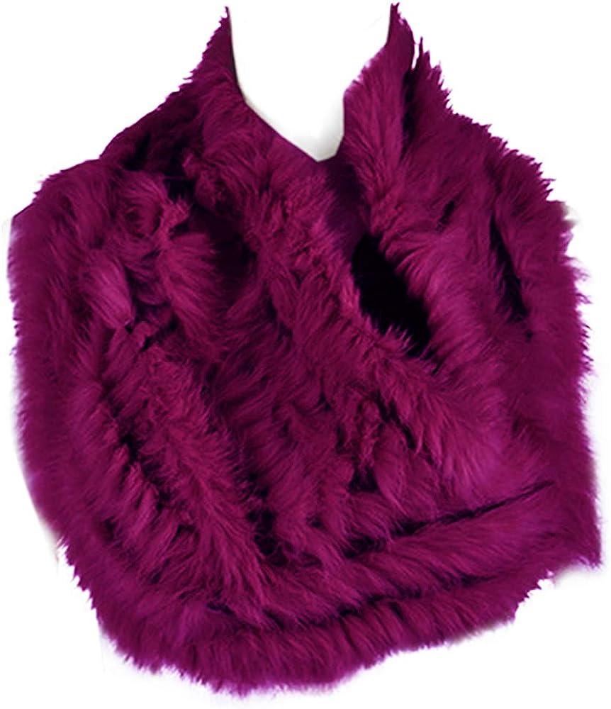 Rabbit Fur Weave Scarf Winter Knit Neck Warmer Real Fur Scarf Neckerchief Women Muffler