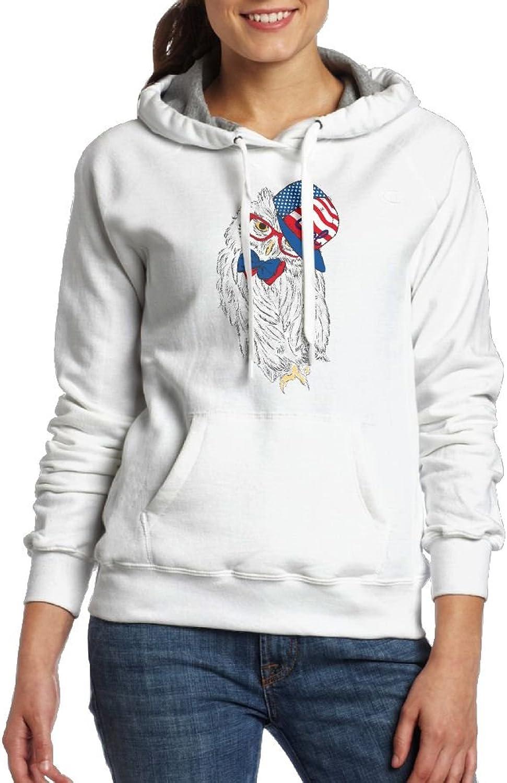 Cool Hiphop Owl Womens Geek Long Sleeve Hoodie With Kangaroo Pocket