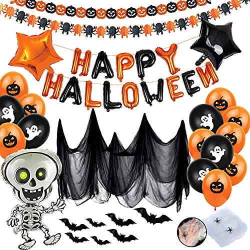 Halloween Palloncino Decorazioni, Decorazioni Halloween Casa, Festone Happy Halloween, Halloween Decorazioni Horror per La Festa Dell'orrore Del Soggiorno Del Bar in Giardino