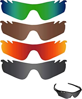 Fiskr Polarized Replacement Lenses for Oakley Radarlock Path Vented Sunglasses Polarized 4 Pairs