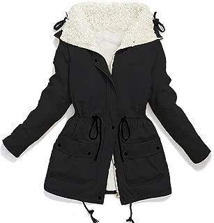 Women's Plus Size Coats Shepra Lined Parkas with Faux Fur Drawstring Jackets