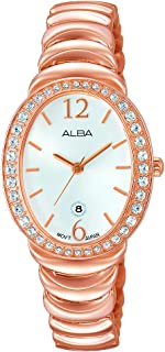 Alba Analog Watch for Women , Stainless Steel Band , AH7L40X1