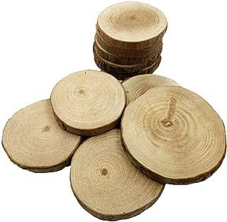 10pcs Wood Log Slices Discs Wedding Pyrography Rustic DIY Crafts Decor 6-9cm