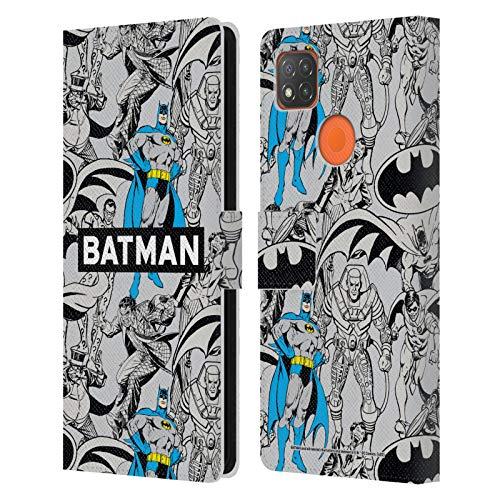 Head Case Designs sous Licence Officielle Batman DC Comics Modèle Mode Vintage Coque en Cuir à Portefeuille Compatible avec Xiaomi Redmi 9C