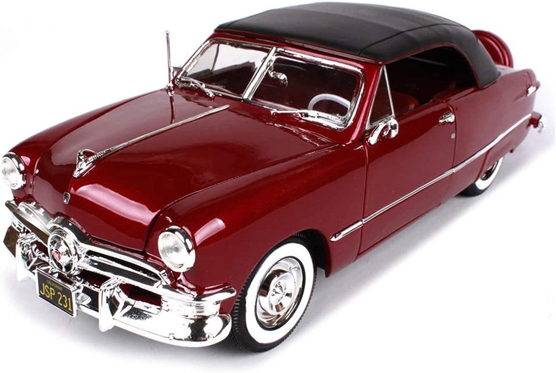 RENJUN Auto modellolo Auto 1 18 Ford 1950 Simulazione Lega Die-Casting Giocattolo Gioielli Auto Sportiva Collezione Gioielli 28.5x10x8.8CM