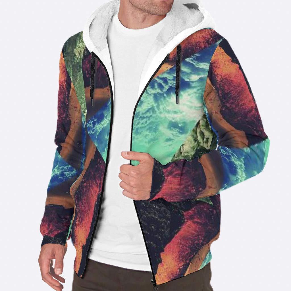 IOVEQG Mens Long Sleeve Hoodie Jacket Fleece Viking Coats
