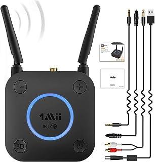 1Mii Receptor Bluetooth 5.0, Adaptador de Audio con Control Volumen HiFi, Bluetooth Receptor de Audio aptX LL de Baja Late...