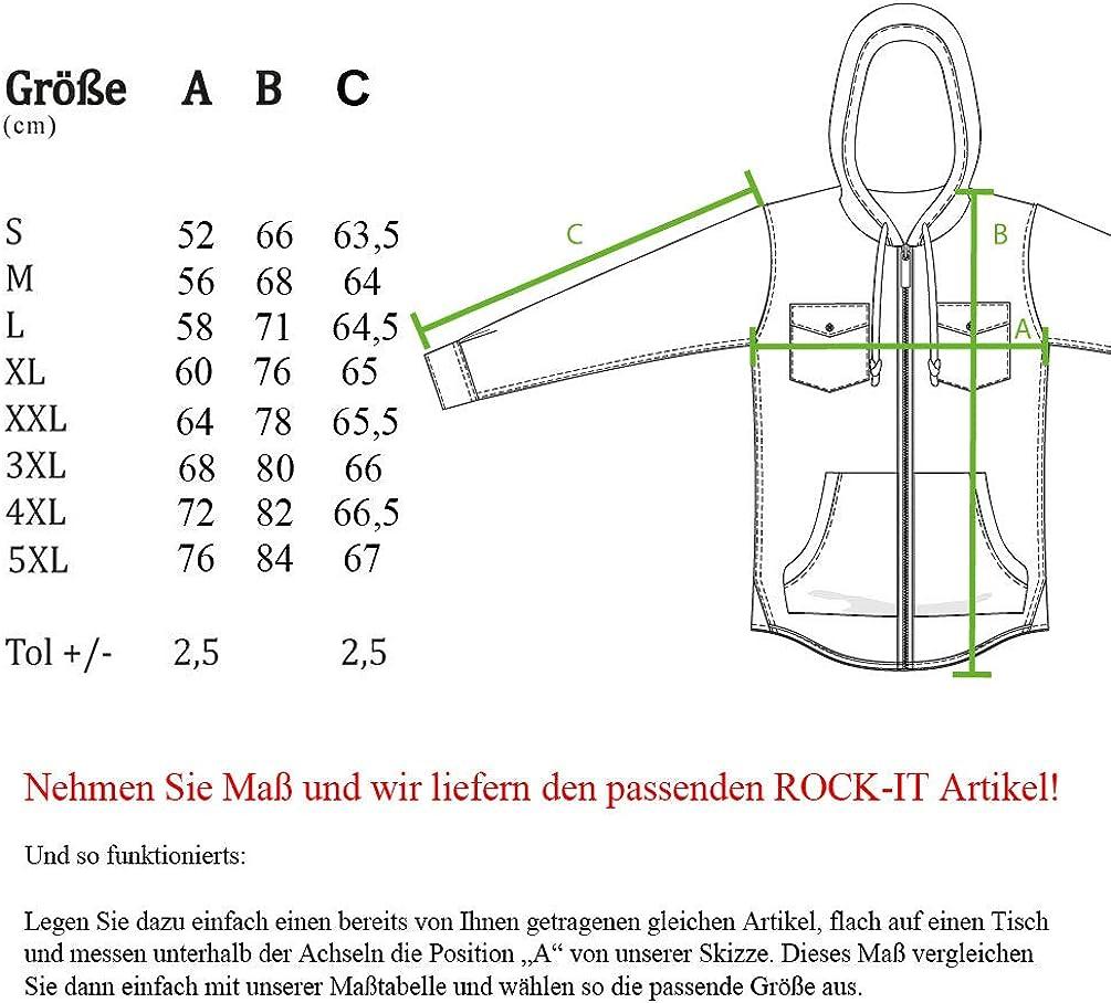 ROCK-IT Apparel/® Chemise /à Carreaux en Flanelle /à Manches Longues pour Hommes avec Capuche Chemise de b/ûcheron Chemise /à Carreaux qualit/é sup/érieure Chemise d/écontract/ée Chemise S-5XL