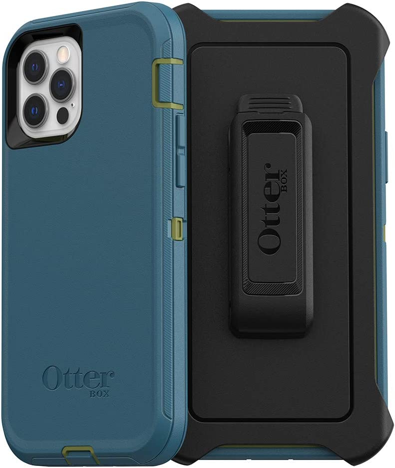 OtterBox Defender Series SCREENLESS Edition Case for iPhone 12 & iPhone 12 Pro - Teal ME About IT (Guacamole/Corsair)
