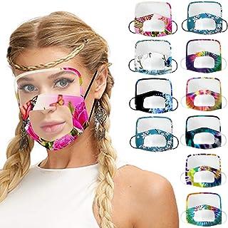 kolila 10 Pcs Face Scarf Bandanas Adults Cotton Breathable Dustproof Windproof Outdoor Face Bandanas with Eyes Shield, Man...