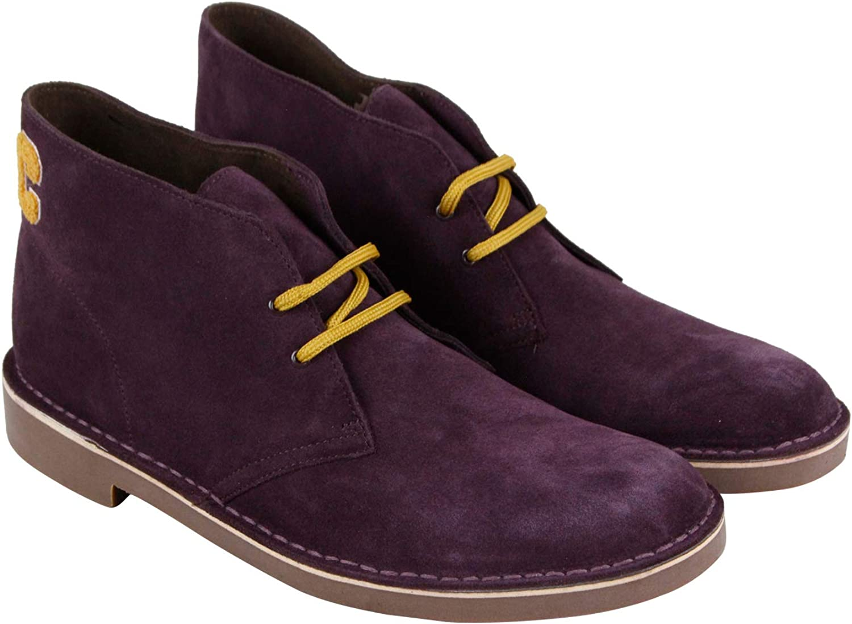 Clarks Bushacre Ca Mens Purple Suede Casual Dress Lace Up Chukkas shoes