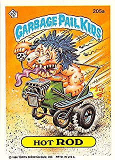 Hot Rod trading card Garbage Pail Kids 1986 Topps #205A Sticker