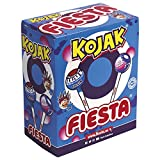 FIESTA Kojak Pintalenguas Caramelo con Palo Sabor Mora Relleno de Chicle - Caja de 100 unidades