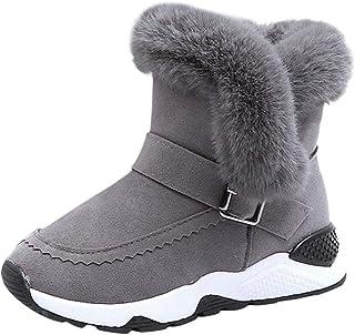 OHQ Botas Zapatos De Nieve Bebé Infantil NiñOs NiñAs Piel Flock Invierno Bootie CáLida Zapatillas De Gimnasia