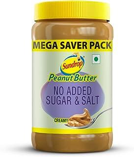 Sundrop Peanut Butter No Added Sugar and Salt Creamy Jar, 924g