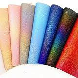 Zaione Kunstleder-Stoff, 20 cm x 30 cm, A4, Farbverlauf,