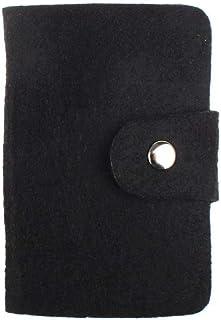 Luxurious Womens Pouch ID Credit Card Holder Organizer Pocket,Colour:Dark Grey (Color : Black)