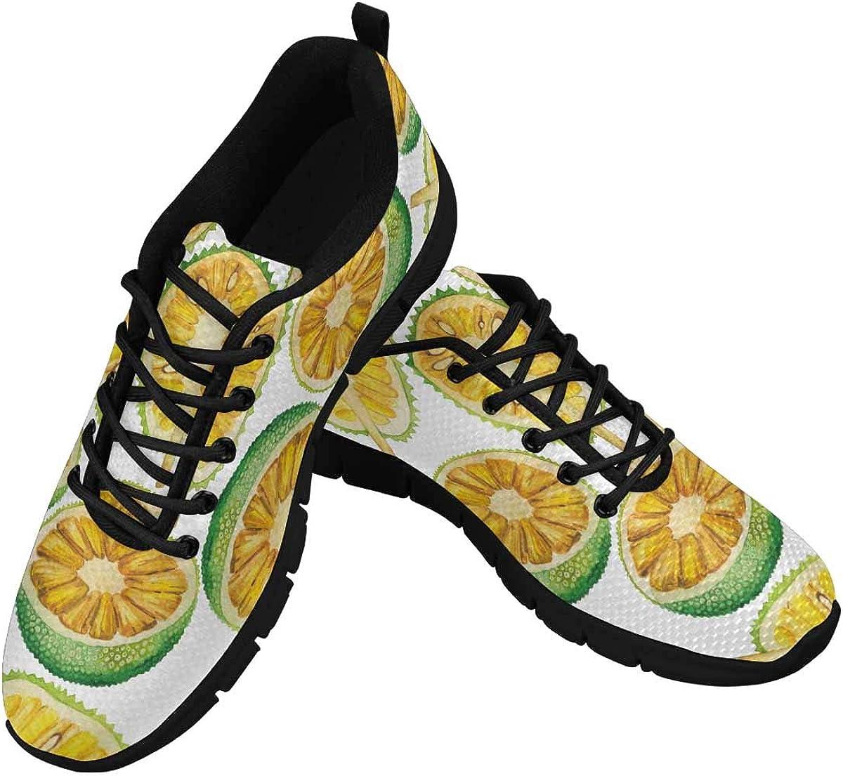 INTERESTPRINT Tropical Fruit Women's Breathable Sneaker