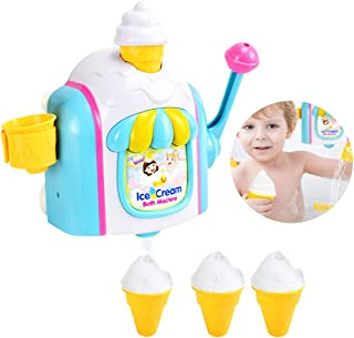 Bath Toys ice Cream Bubble Machine Bath time Bathroom Play Toy