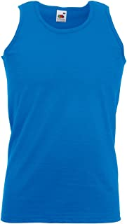 Fruit of the Loom Mens Athletic Sleeveless Vest/Tank Top (S) (Royal)