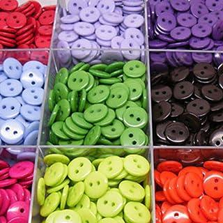 20Pcs Bottoni in Resina Rotondo Nero 4-Foro per cucito album ritagli Craft 15mm-25mm fai da te