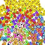 JZK 15 Biberón gomas borrar mini animal Emoji fruta niños juguete cumpleaños niños favorece obsequios fiesta relleno bolsas gracias regalo