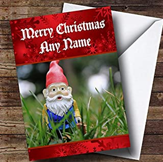 Garden Gnome Christmas Card Personalised