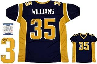 Aeneas Williams Autographed Jersey - Beckett Navy - Beckett Authentication - Autographed NFL Jerseys