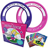 Activ Life アクティブライフ キッズ フライイングリング [ピンク/パープル] クリスマスの楽しいギフト&誕生日プレゼントに - 女の子や女性にクールなおもちゃ アウトドアやプール、裏庭で遊ぶのに - 孫娘、姪、孫、母親に ピンク/パープル