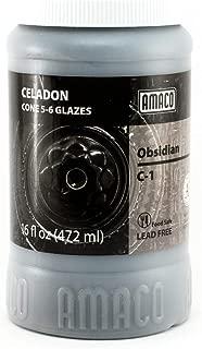 Amaco Celadon Hi Fire (Cone5-6) Glaze - Pint # C-1 - Obsidian