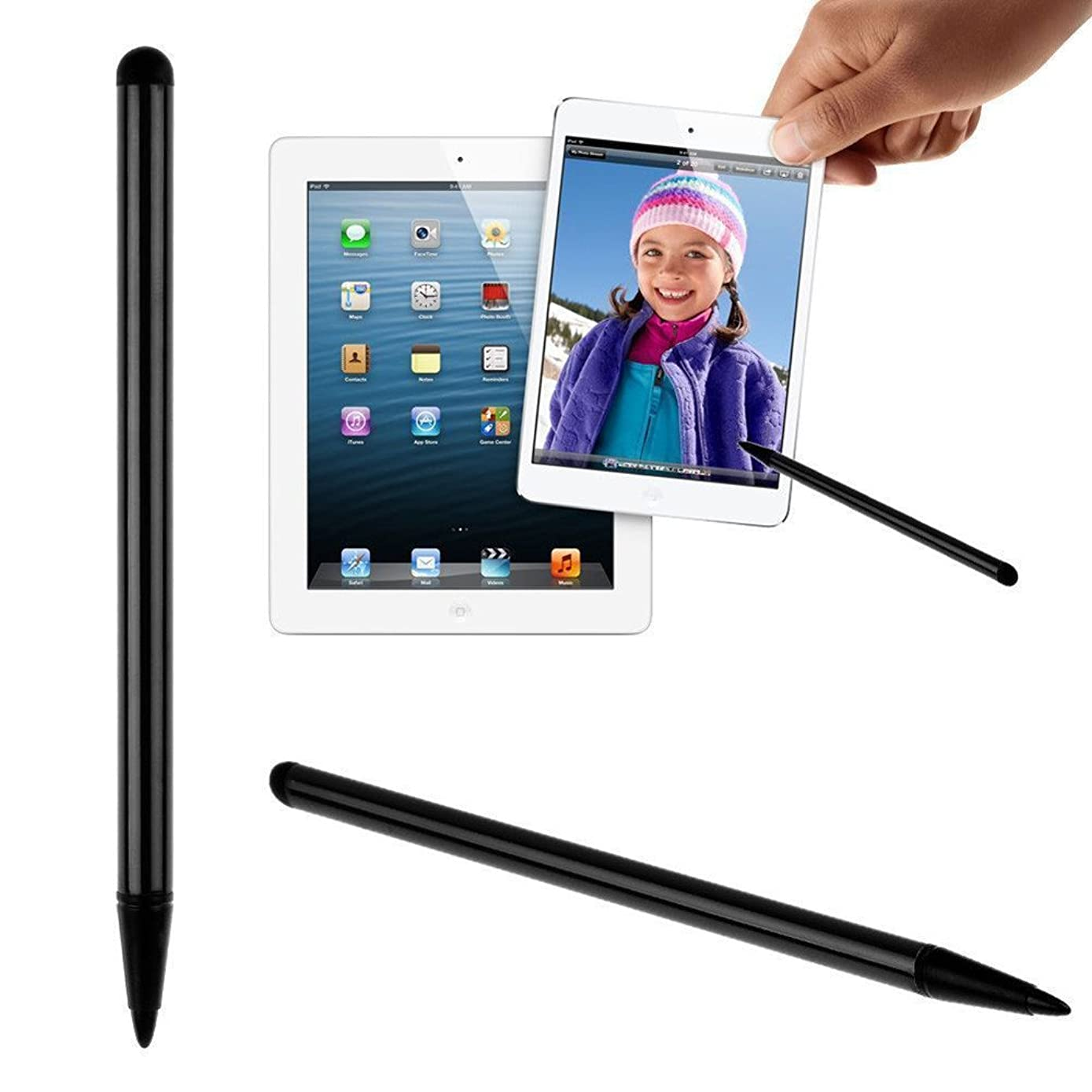 2019 Stylus Pens for Touch Screens Styluses Universal for iPhone iPad for Samsung Tablet Phone PC (Black)