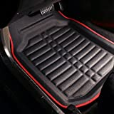 FH Group F14409REDBLACK Deep Tray All Weather Floor Mat, 4 Piece