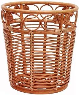 XYZMDJ Rotin Panier de Rangement, vêtements Sales Panier Boîte de Rangement Salle de Bain en rotin Panier de Rangement
