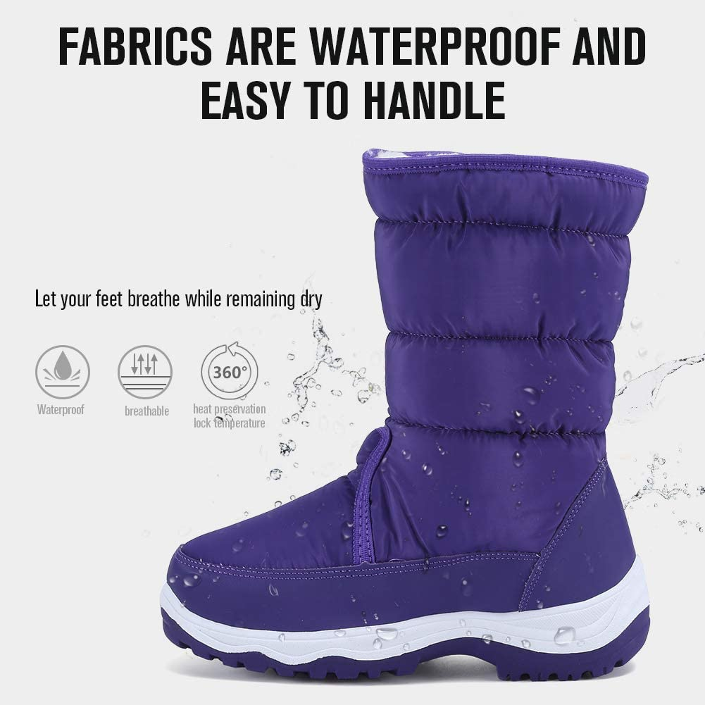 CIOR Womens Snow Boots Winter II Waterproof Fur Lined Frosty Warm Anti-Slip Boot