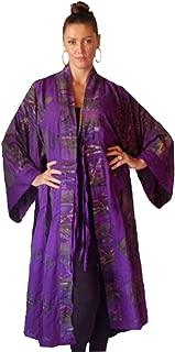Lotustraders Jacket Kimono Long Ties Bali Batik Comb Rayon H736