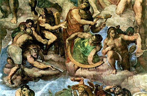 Het Museum Outlet - Martelaren met gereedschap van hun martelaarschap door Michelangelo - Poster (24 x 32 Inch)