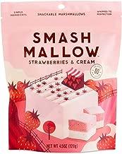 SmashMallow Snackable Marshmallows, Strawberries & Cream, 4.5 oz (2-Pack)