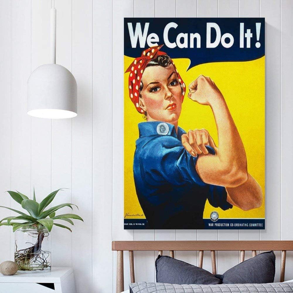 LIULANG We Can Do It P/óster Pintura Decorativa Lienzo Arte Pared Sala Poster Dormitorio Pinturas 20x30 cm