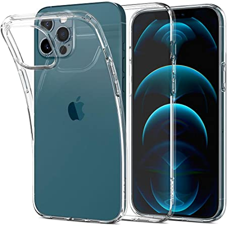 Spigen 全透明 iPhone 12 Pro Max 用 ケース 6.7インチ クリア TPUカバー 厚さ1.5mm 超薄型 超軽量 米軍MIL規格取得 リキッド・クリスタル ACS01613 (クリスタル ・クリア)