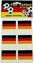 HAAC Nagelaufkleber Nagel Hautaufkleber Set in Deutschlandsfarben Deutschland Fu/ßball 2018